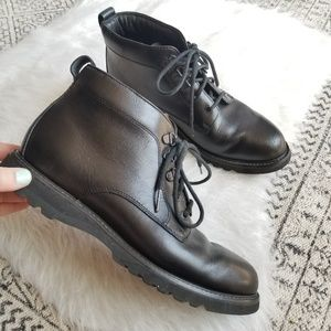 Rockport Waterproof Lace Up Leather Boots 8